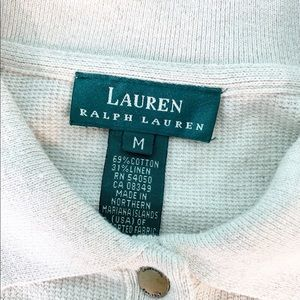Lauren RL Linen Tan Sweater Q1395